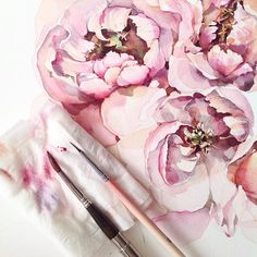 #watercolor#watercolour#aquarelle#waterblog#art#artist#art_we_inspire#arts_help#drawing#painting#flowers#peonies#illystration#watercolorpainting#botanicalart#botanical#misha_illustration#inspiration#акварель