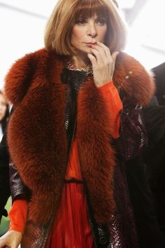 Fabulous. My role model..Vogue's editor and chief Anna Wintour. I will be her someday. Like no joke.
