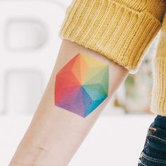 Color wheel tattoo, this one has amazing ... | Dots, lines and geom...
