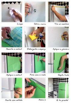Aplicando Contact na Geladeira - Faça você mesmo | Homens da CasaHomens da Casa