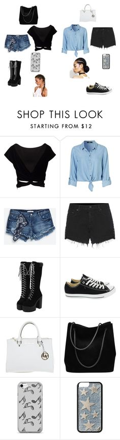"""""""2 outfits"""" by latishapen on Polyvore featuring mode, Zara, rag & bone, Converse, Michael Kors, Gucci en Music Notes"""