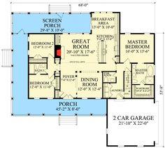 Country Cottage with Wraparound and Bonus Room - 32640WP | Cottage, Country, 1st Floor Master Suite, Bonus Room, PDF, Split Bedrooms, Wrap Around Porch, Corner Lot | Architectural Designs