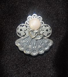 Comfort Angel Pin Silver