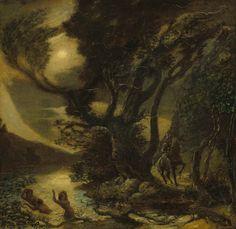 "drakontomalloi: ""Albert Pinkham Ryder - Siegfried and the Rhine Maidens. N.d., between 1888 and 1891 """