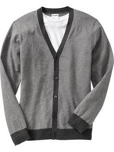 Old Navy Mens Button-Front Contrasting Cardigans