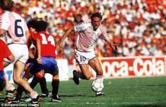 Preben Elkjaer Larsen (Denmark) - 1986 The dashing Dane was the Bronze Ball winner at Mexico 86, his dynamism typifying what is regarded as his country's greatest-ever side. He bagged a hat-trick as the cynical Uruguayans were disposed 6-1 during the group stage and was named in the All Star XI.