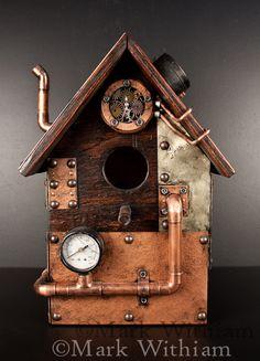 Mark Withiam   Steampunk Birdhouse