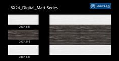 Anything but ordinary.  Digital Matt Tile #Design 2407 D_E - Millennium Tiles 200x600mm (8x24) Digital Ceramic #Wood Effect Matt Wall #Tiles - 2407_L_B - 2407_D_E - 2407_L_B