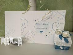 Hochzeitskarte und Gastgeschenk