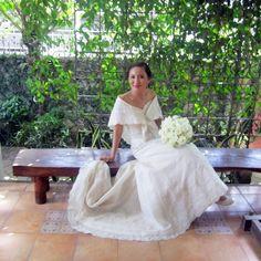 Rosalyn Lagdameo Filipiniana wedding gown. Andrea San Agustin April 2013.