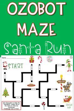 Computer Teacher, Computer Class, Computer Science, Christmas Maze, Christmas Themes, Craft Activities For Kids, Stem Activities, Label Templates, Business Templates