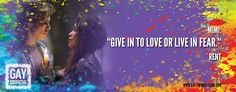 """Give in to love or live in fear""   http://gay-themed-films.com/film-quotes #MovieQuotes #Rent #LGBT"