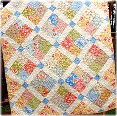 California Girl Baby Crib Quilt by CarleneWestberg.