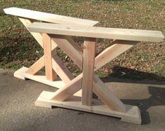 Farmhouse X-Frame Table Legs Wood Table Legs Trestle Table