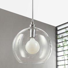 Uptown Clear Globe 1-light Chrome Pendant (Uptown Clear Globe Pendant)