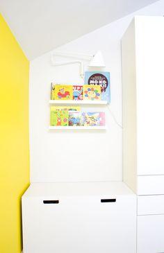 värillä ei ole väliä: Lastenhuoneen lukunurkkaus