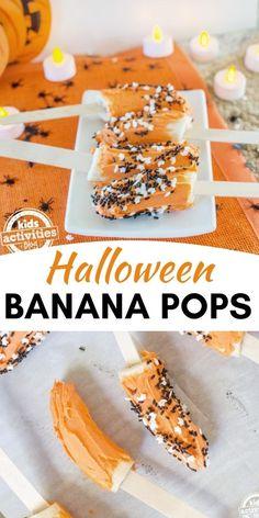 Halloween Food Crafts, Halloween Themed Food, Halloween Snacks For Kids, Halloween Treats For Kids, Halloween Desserts, Fall Snacks, Spooky Treats, Halloween Foods, Halloween Activities
