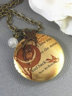 Checkout this amazing product Moonlight OwlBrass LocketQuote by valleygirldesigns on Etsy, $29.00 at Shopintoit