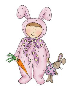 Free Dearie Dolls Digi Stamps: Bunny Costume Girl