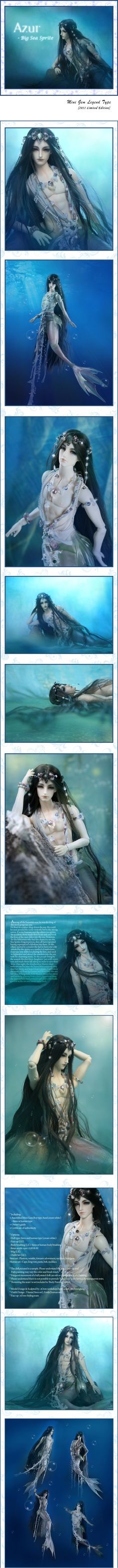 SOOM ball-jointed merman 'Azur' - spectacular sculpting and great accessorizing....