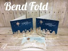 Bend Fold Card, Night in Bethlehem, Bethlehem Edgelits Dies, Stampin'Up!, Frenchiestamps