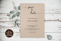Printable Save the Date Card Template, Rustic #weddings #invitation @EtsyMktgTool http://etsy.me/2z9Aq4P