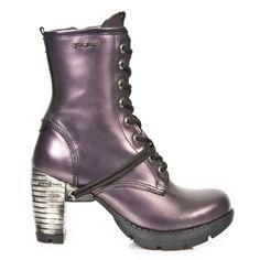 New Rock boots, Trail, metallic purple