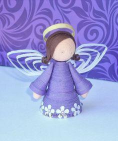 3d Quilled Angel (tutorial), paper, DIY, X-Mas, Christmas, #engel, papier, Kerstmis, quillen, tutorial