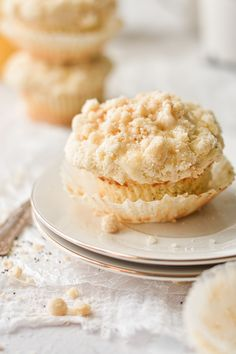 Lemon Poppyseed Muffins, Lemon Muffins, Lemon Icing, Crumble Topping, Bread And Pastries, Sweet Breakfast, Quick Bread, Sweet And Salty, Muffin Recipes