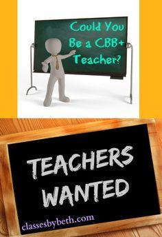 Could You Be a CBB+ Teacher