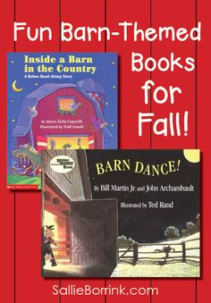 Discover fun barn-themed books for fall! These are sure to become favorites for your children or students!