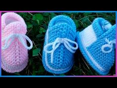 Kids Knitting Patterns, Crochet Stitches Patterns, Knitting For Kids, Felt Baby Shoes, Crochet Baby Shoes, Knit Crochet, Knitted Booties, Baby Booties, Border Embroidery Designs