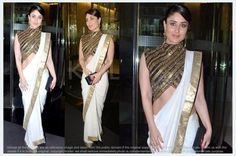 Ved Deal's Bollywood Replica Kareena Kapoor Heavy Blue Designer Saree Bollywood Sarees Online on Shimply.com