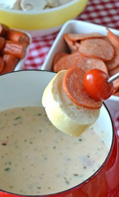 Easy Pizza Fondue. That's a fun idea! I should make that