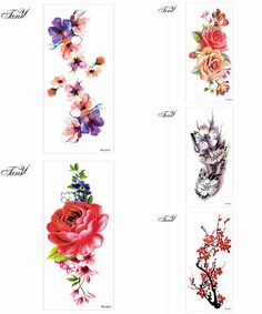 [Visit to Buy] 1piece Indian Arabic Fake temporary tattoos stickers rose flowers arm shoulder tattoo waterproof ledy women big on body #Advertisement