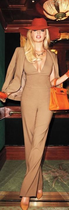 Kate Upton Harper's Bazaar beige love it but would add a colored jacket and belt.