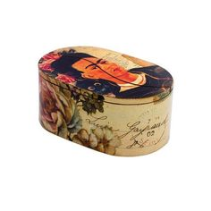 NOVICA Frida and Monkey on Artisan Crafted Decoupage Decorative Box (€27) ❤ liked on Polyvore featuring home, home decor, small item storage, decor accessories, decorative boxes, monkey home decor, oval box, novica, decoupage box and inspirational home decor