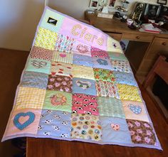 A personal favourite from my Etsy shop https://www.etsy.com/uk/listing/196470581/quilted-personalised-blanket-baby-gift