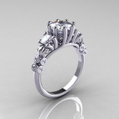 Reserved for James  Classic 14K White Gold 15 CT by artmasters, $1500.00