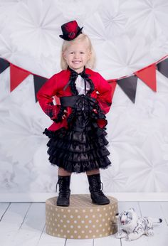 New to PinkMouseKids on Etsy: Circus Ringleader - Halloween Costume - Girls Costume - Ringmaster - Toddler Costume - Baby Costume - Birthday Outfit - Girl Costume (79.99 USD)