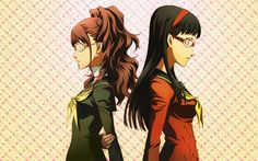 Rise and Yukiko from Persona 4.