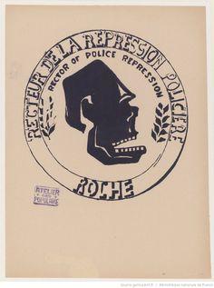 [Mai 1968]. Recteur de la répression policière [Jean] Roche. Atelier populaire : [affiche] / [non identifié]