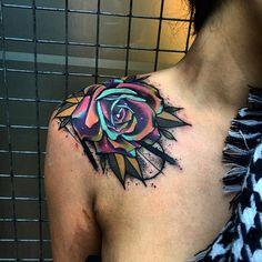Rose tattoo shoulder tattoo - 70 Awesome Shoulder Tattoos