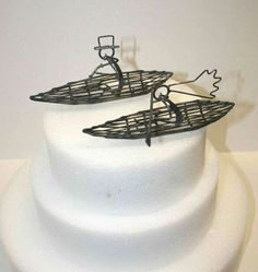 Kayak wedding cake topper - Awesome :)