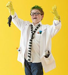 Cute mad scientist! Going to work off of this for William's costume.