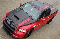 Dodge Ram SRT part wrapped in matte black