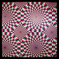 Super cool optical illusion at The Franklin Institute Science Museum in Philadelphia! (it looks like it's moving)