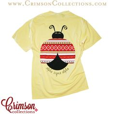 Alpha Sigma Alpha tribal lady bug pocket t!! Only available at Crimson Collections!