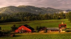 Early morningat the John C. Campbell Folk School in Brasstown, North Carolina. By Greg and Chrystal Mimbs