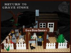 Grave Stone Cemetery: A LEGO® creation by TheBrick Ster on MOCpages.com